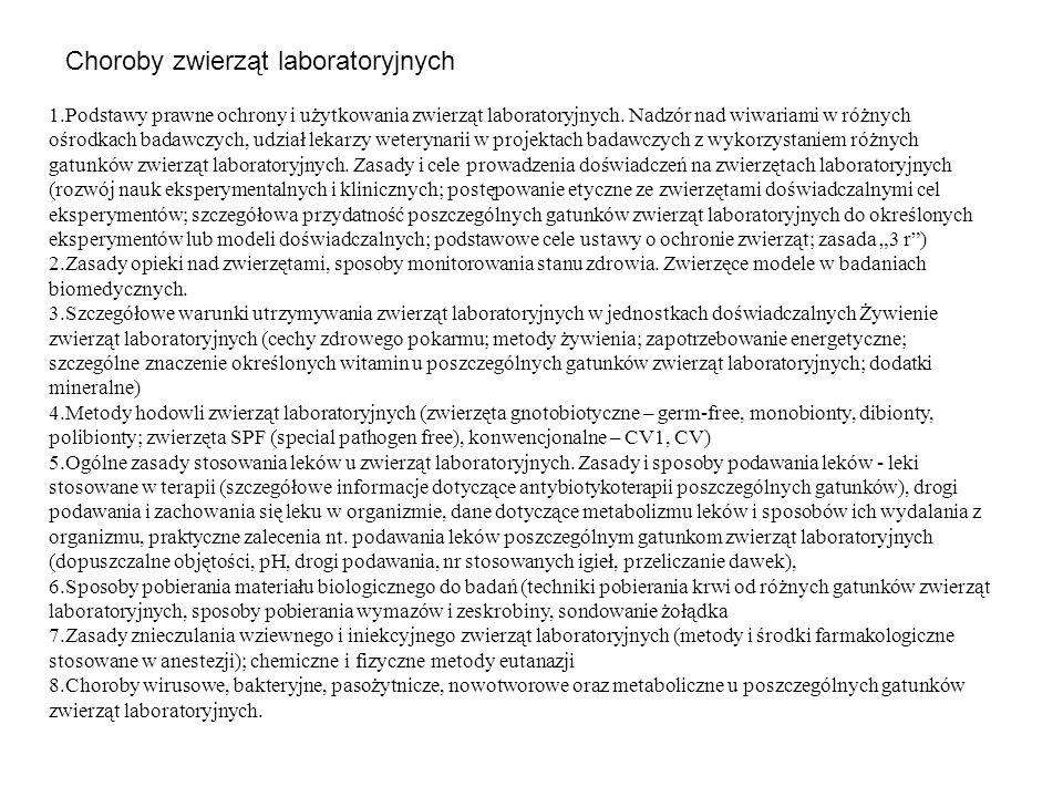 Choroby zwierząt laboratoryjnych