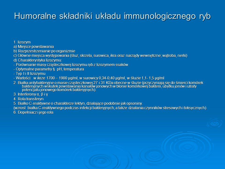 Humoralne składniki układu immunologicznego ryb