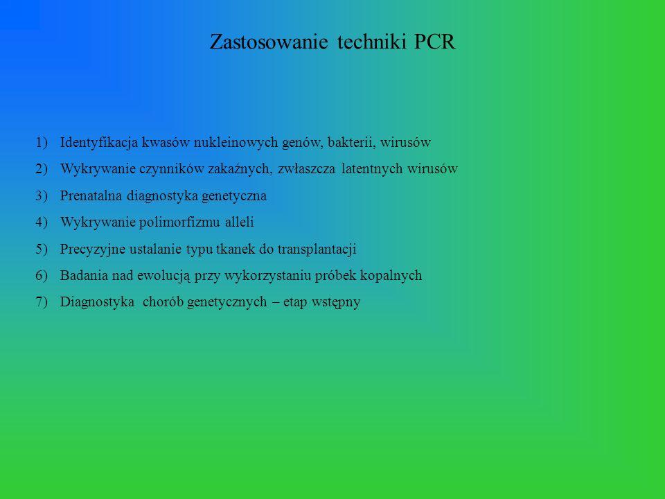 Zastosowanie techniki PCR