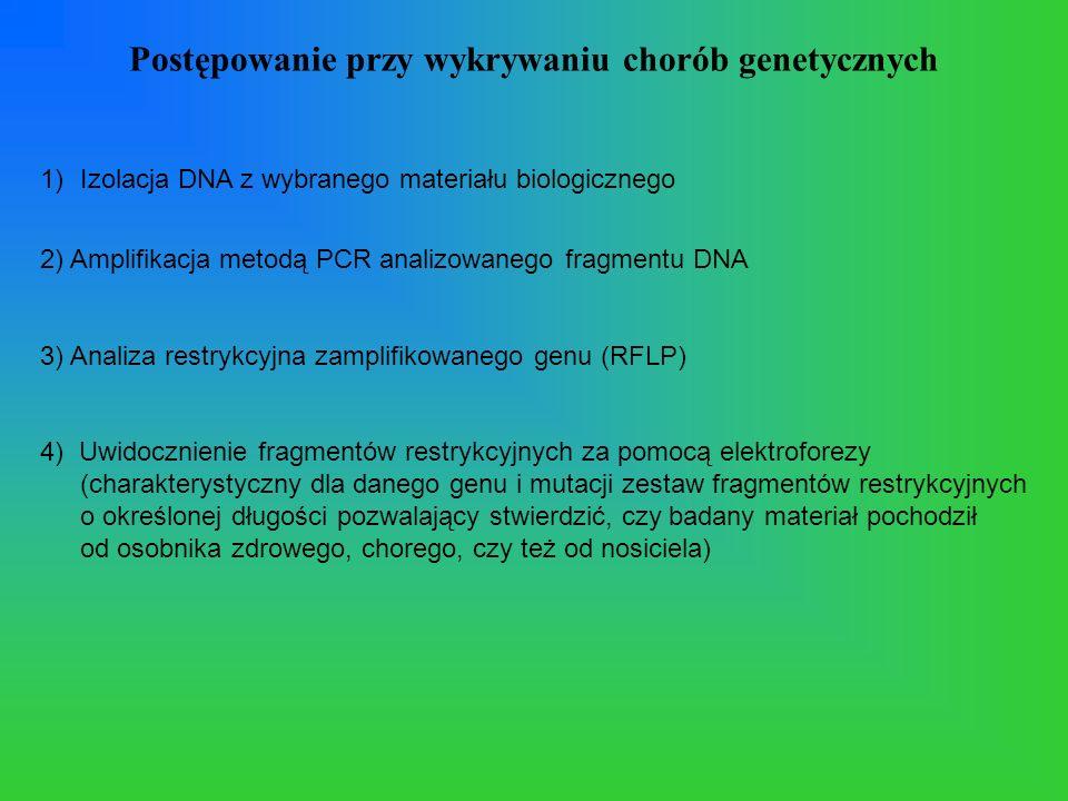 Postępowanie przy wykrywaniu chorób genetycznych
