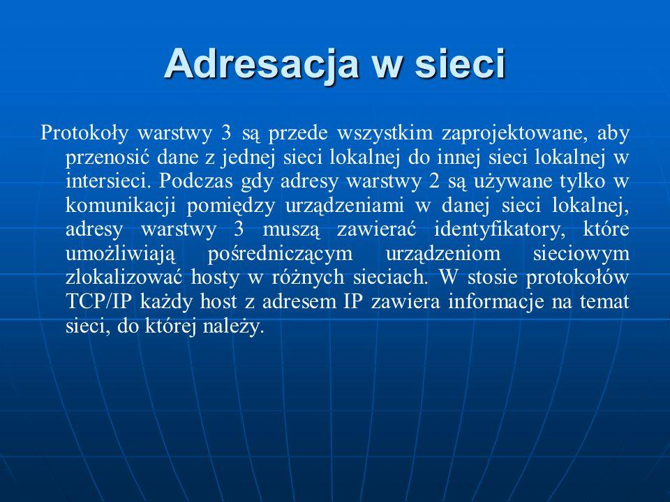 Adresacja w sieci