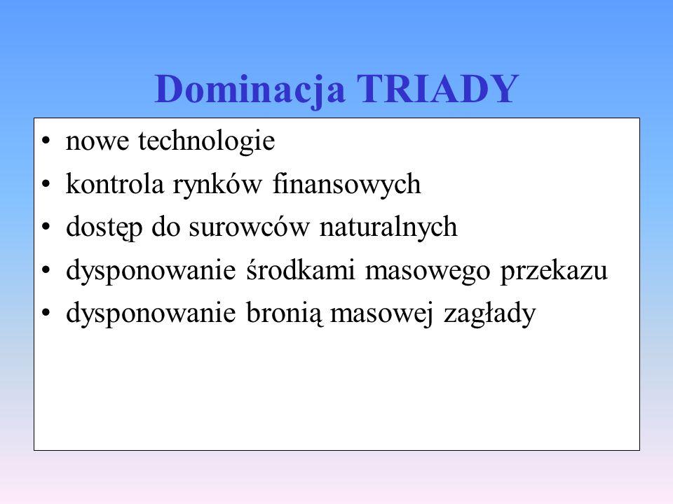 Dominacja TRIADY nowe technologie kontrola rynków finansowych