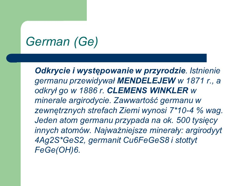 German (Ge)