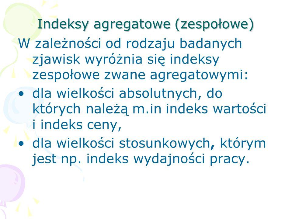 Indeksy agregatowe (zespołowe)