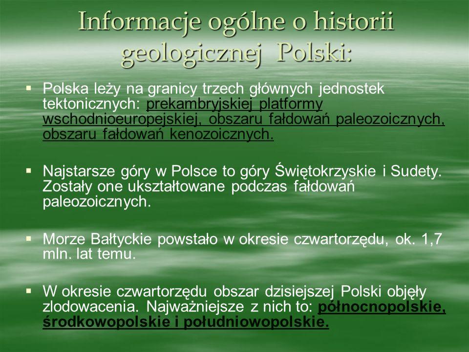 Informacje ogólne o historii geologicznej Polski: