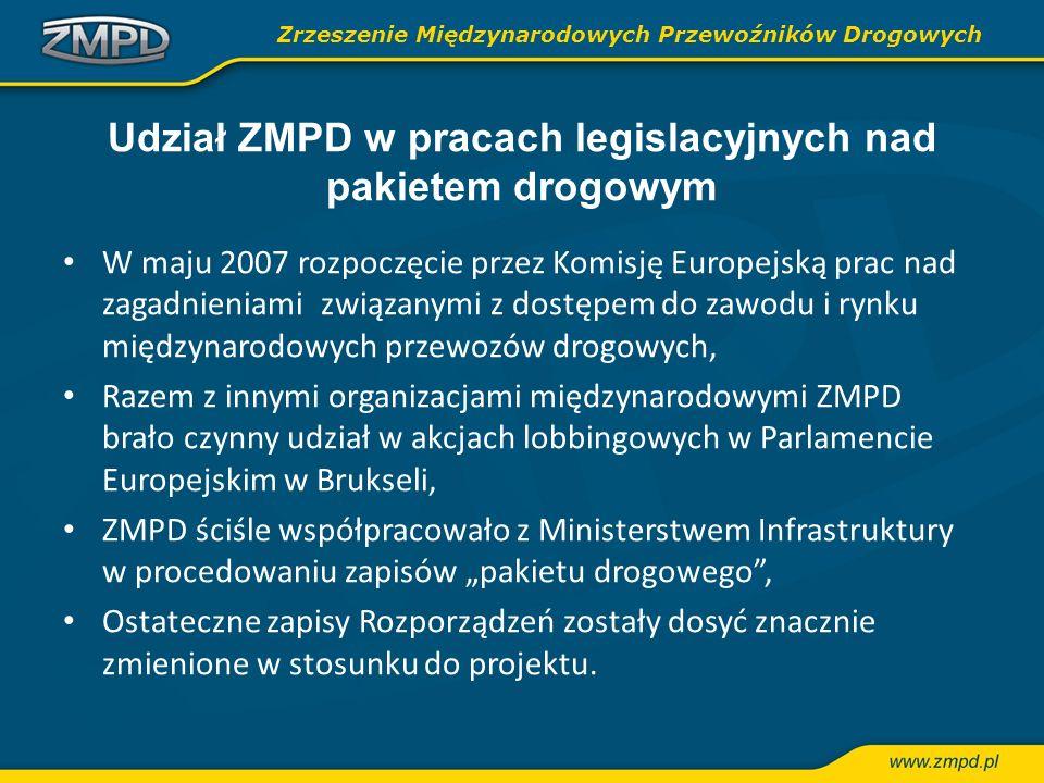 Udział ZMPD w pracach legislacyjnych nad pakietem drogowym