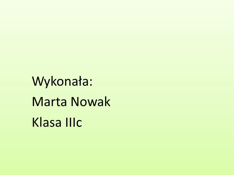 Wykonała: Marta Nowak Klasa IIIc