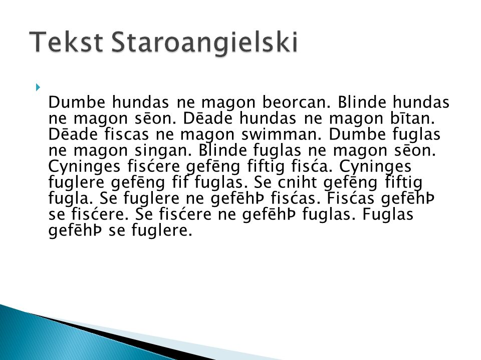 Tekst Staroangielski