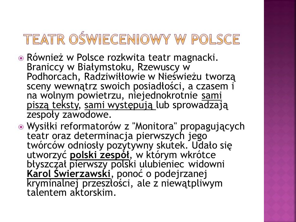 Teatr oświeceniowy w Polsce