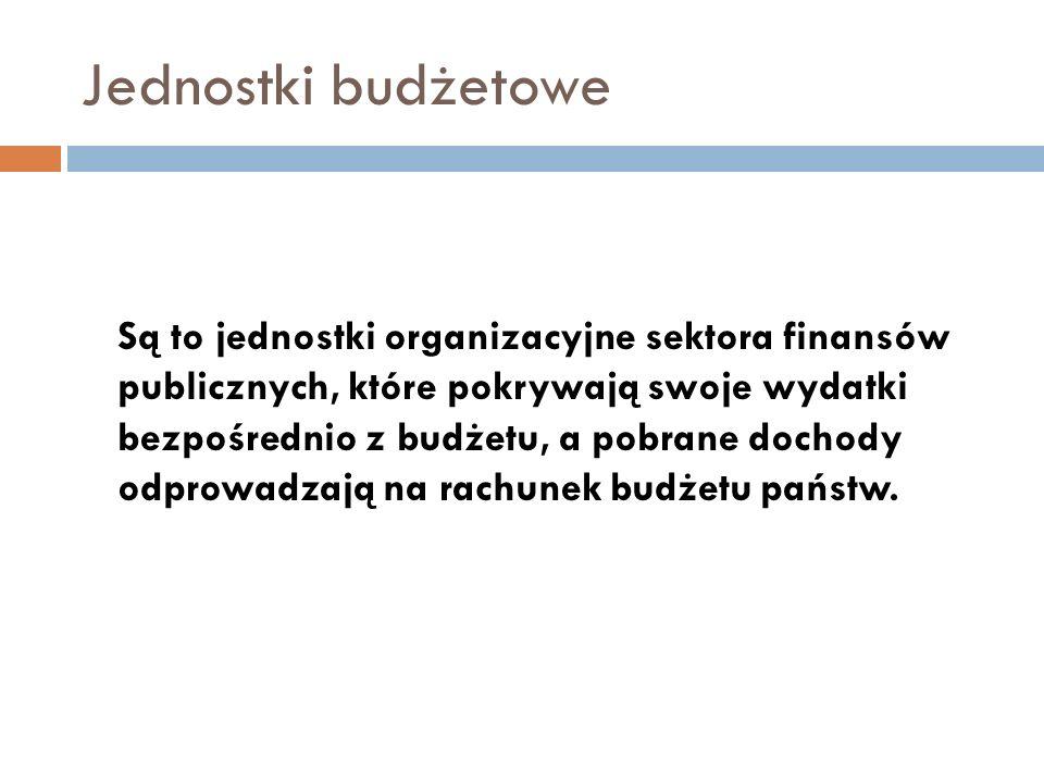 Jednostki budżetowe