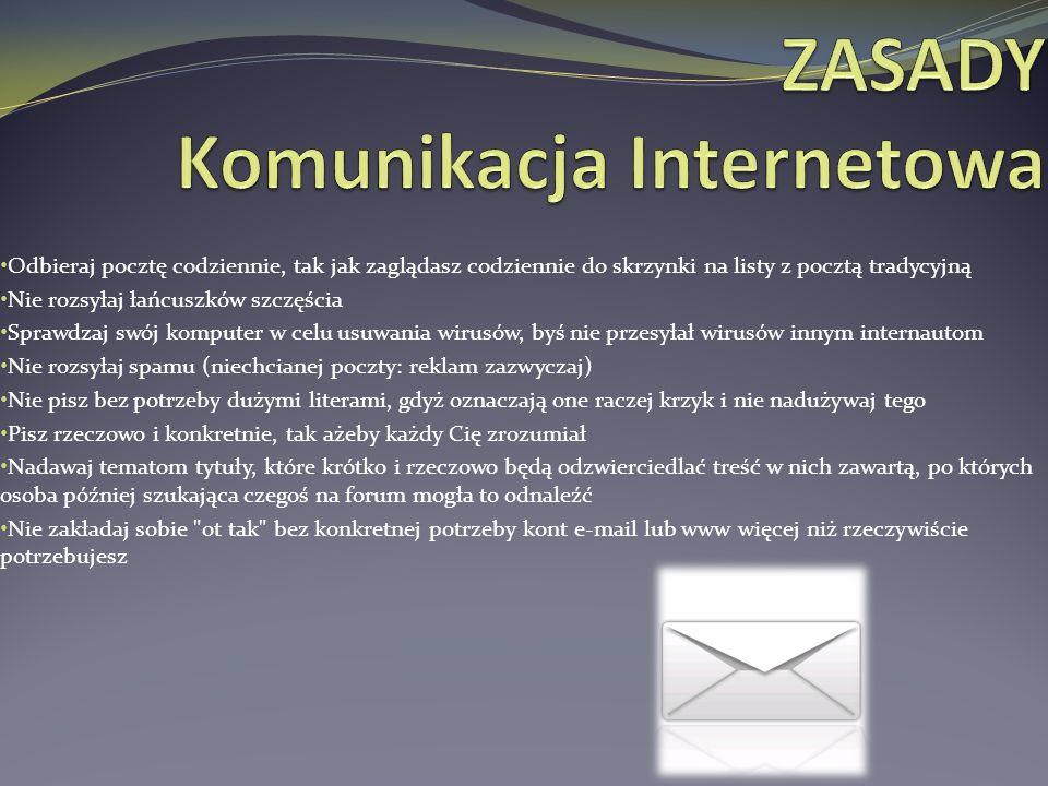 ZASADY Komunikacja Internetowa