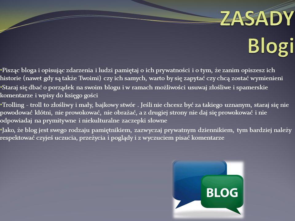 ZASADY Blogi