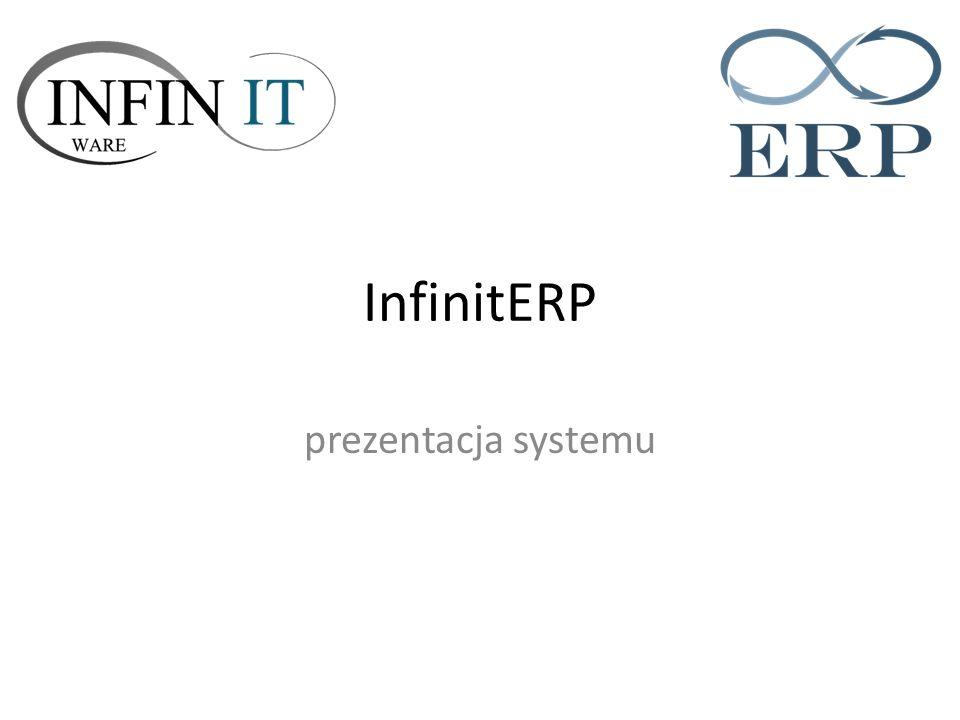 InfinitERP prezentacja systemu