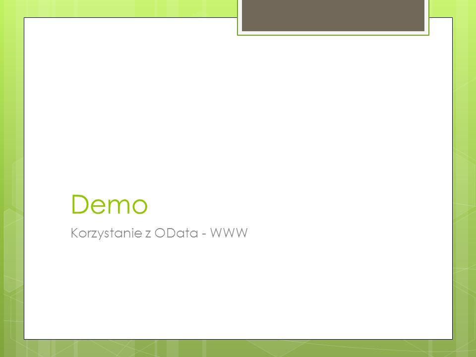 Demo Korzystanie z OData - WWW