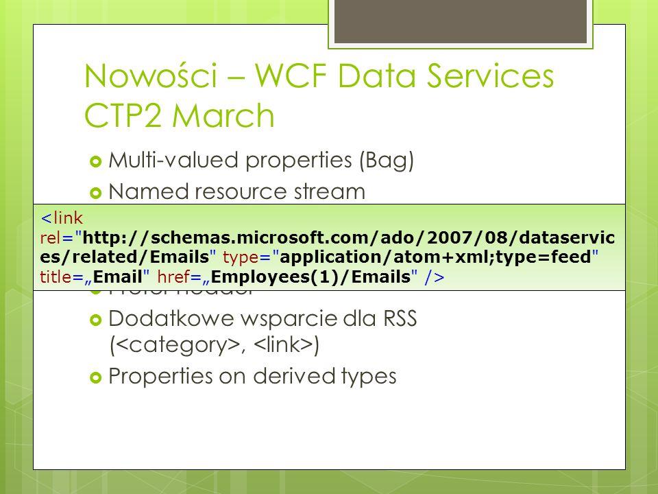 Nowości – WCF Data Services CTP2 March