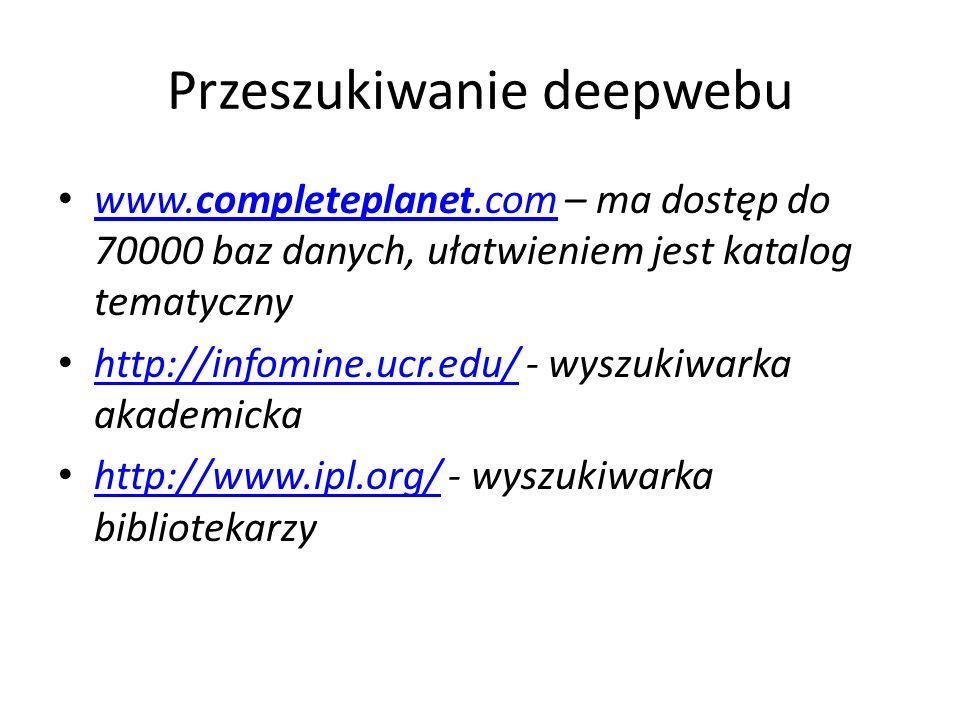 Przeszukiwanie deepwebu