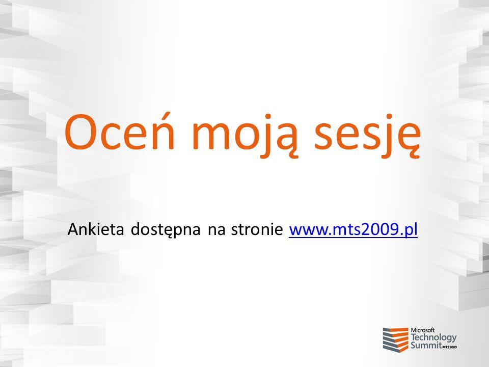 Ankieta dostępna na stronie www.mts2009.pl