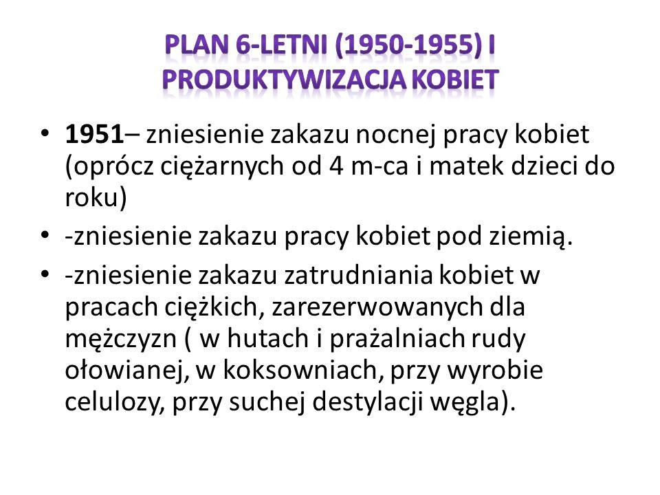 Plan 6-letni (1950-1955) i produktywizacja kobiet