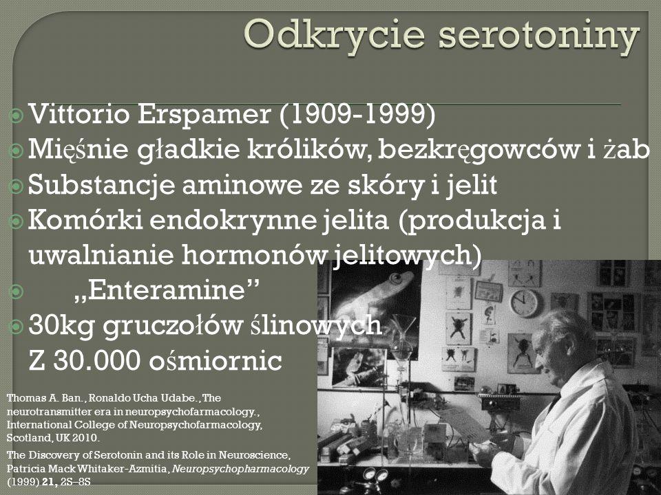 Odkrycie serotoniny Vittorio Erspamer (1909-1999)