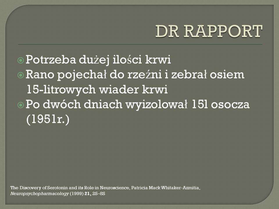 DR RAPPORT Potrzeba dużej ilości krwi
