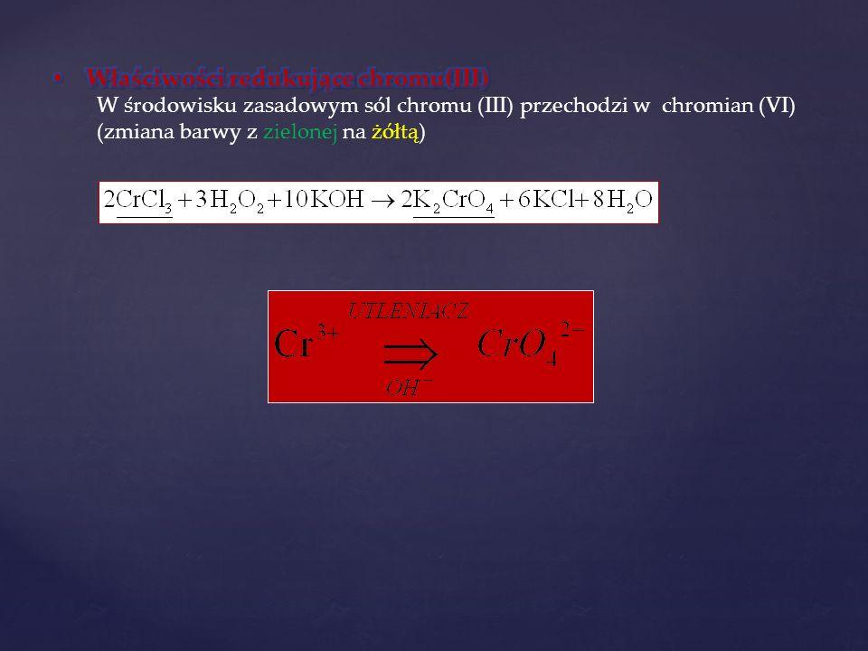 Właściwości redukujące chromu(III)