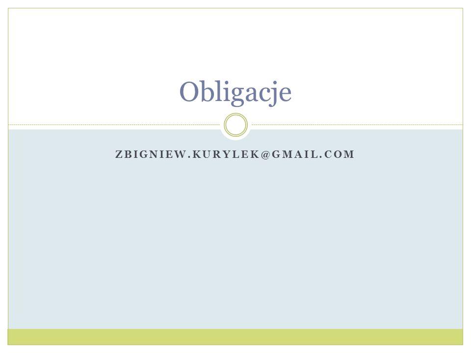 Obligacje Zbigniew.kurylek@gmail.com