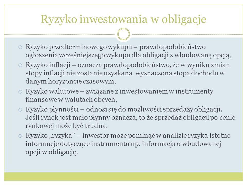 Ryzyko inwestowania w obligacje