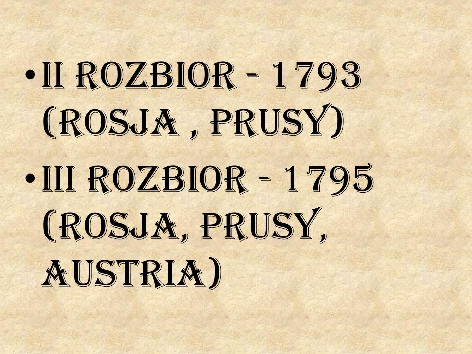 II rozbior - 1793 (Rosja , Prusy)