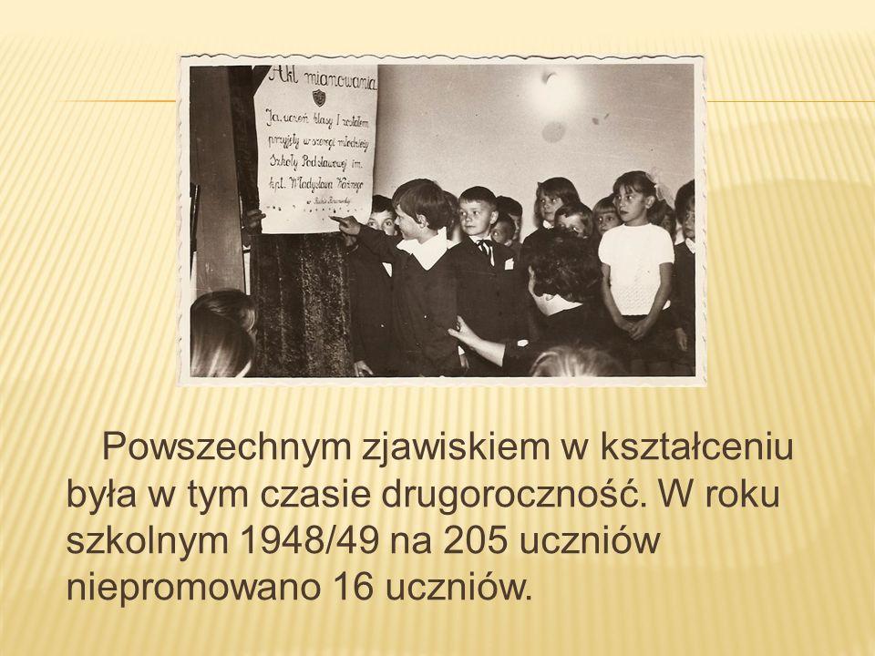 Powszechnym zjawiskiem w kształceniu była w tym czasie drugoroczność