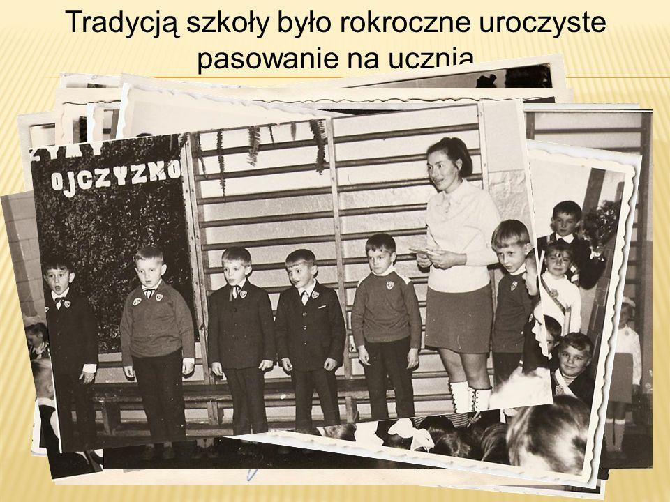 Tradycją szkoły było rokroczne uroczyste