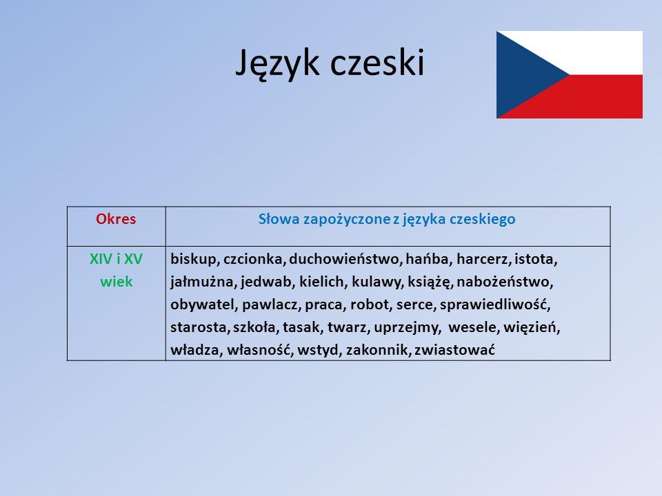 Słowa zapożyczone z języka czeskiego