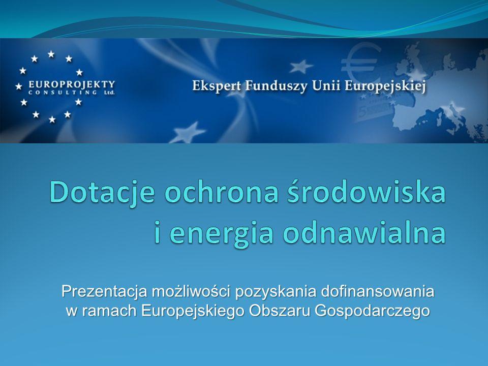 Dotacje ochrona środowiska i energia odnawialna