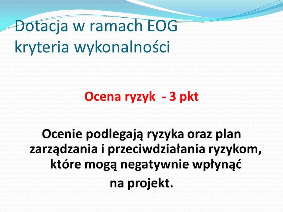Dotacja w ramach EOG kryteria wykonalności