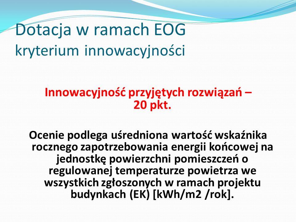 Dotacja w ramach EOG kryterium innowacyjności