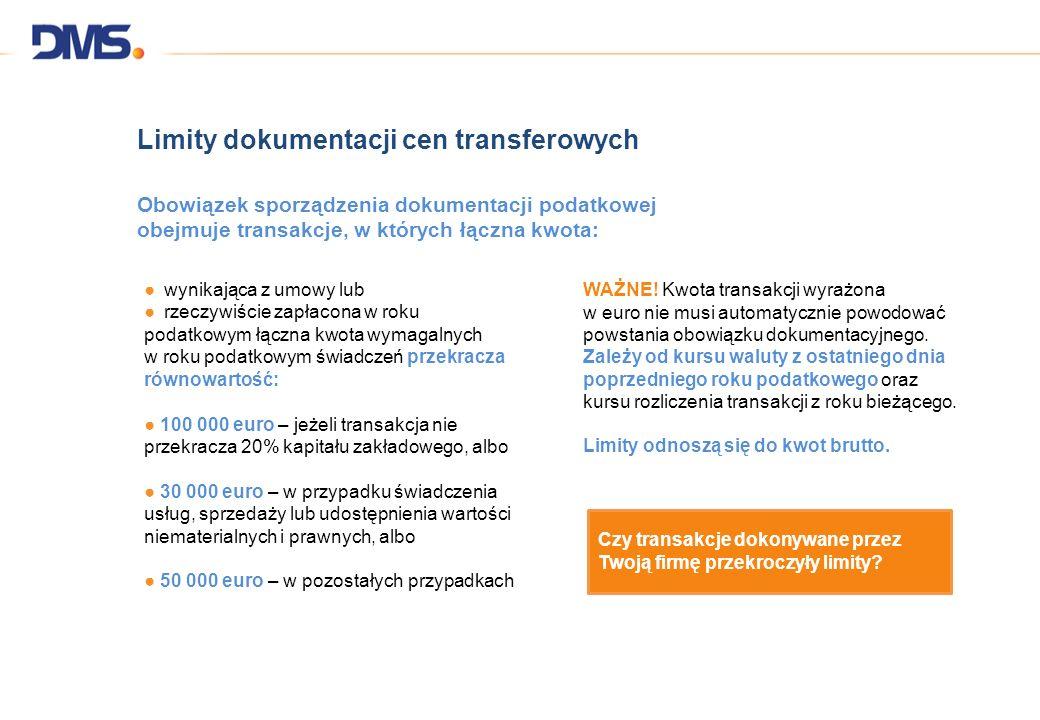 Limity dokumentacji cen transferowych