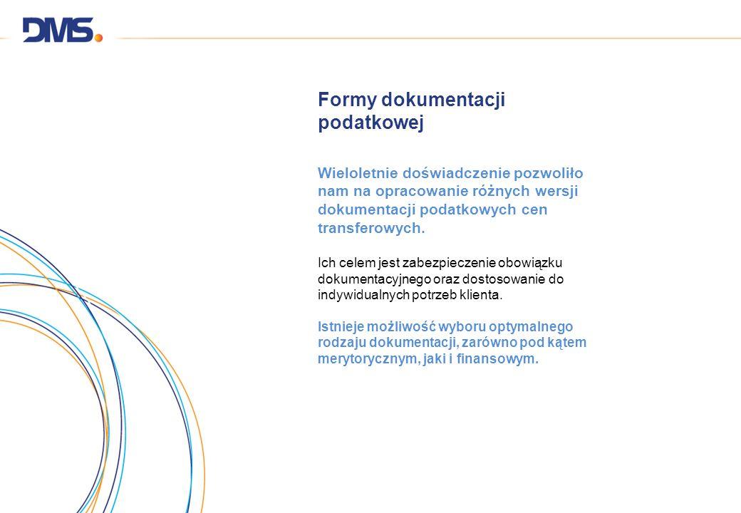 Formy dokumentacji podatkowej