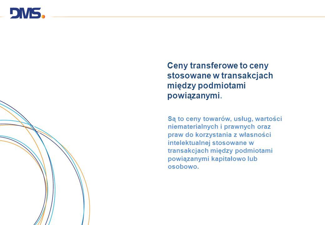 Ceny transferowe to ceny stosowane w transakcjach między podmiotami powiązanymi.