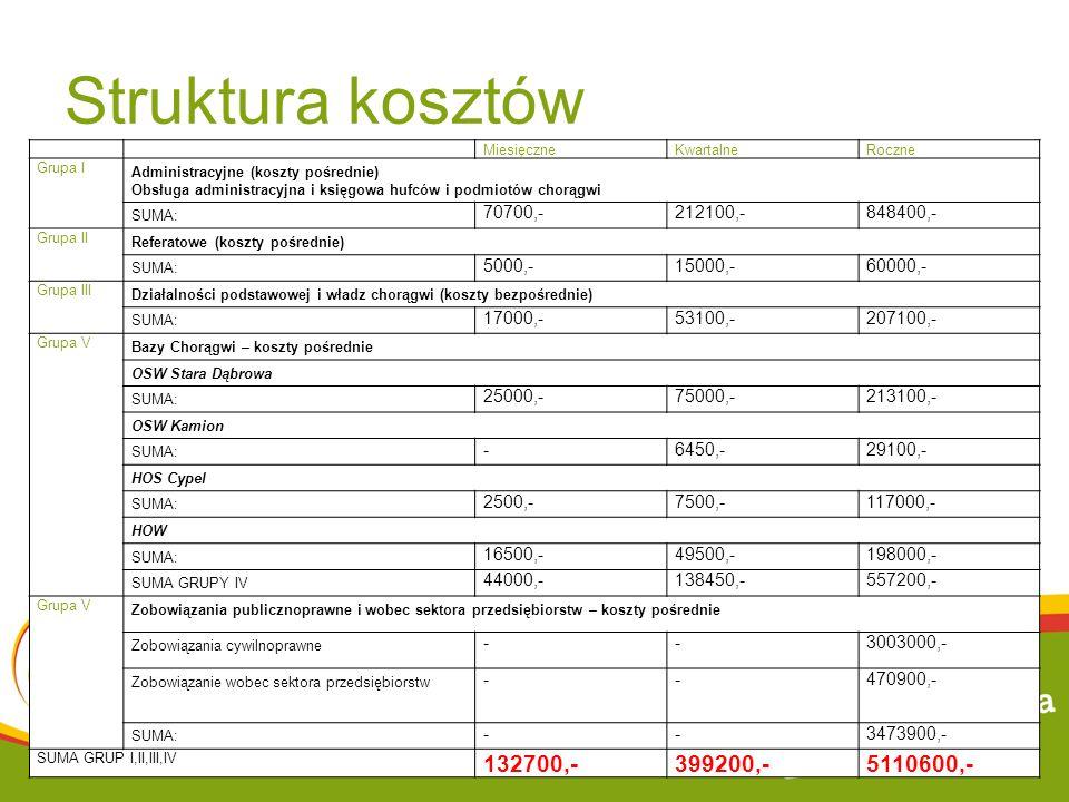 Struktura kosztów 132700,- 399200,- 5110600,- 70700,- 212100,-