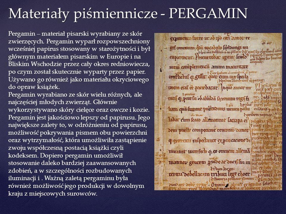 Materiały piśmiennicze - PERGAMIN