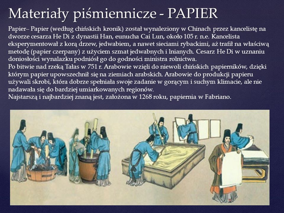 Materiały piśmiennicze - PAPIER