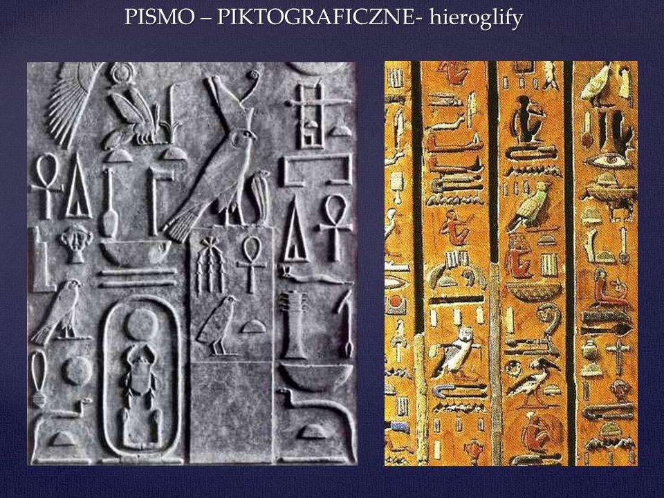 PISMO – PIKTOGRAFICZNE- hieroglify