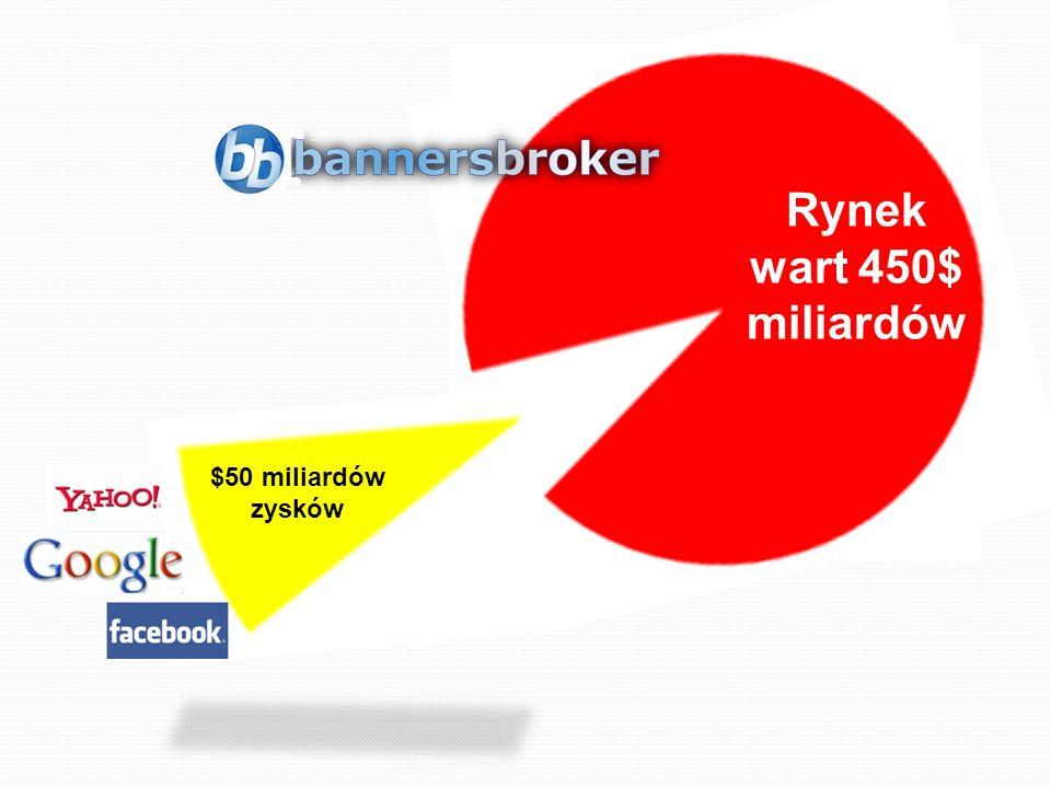 $500 BILLION MARKET Rynek wart 450$ miliardów $50 miliardów zysków