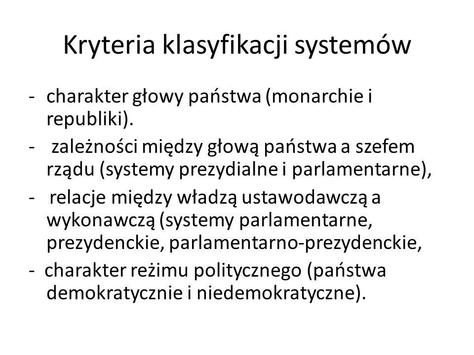Kryteria klasyfikacji systemów