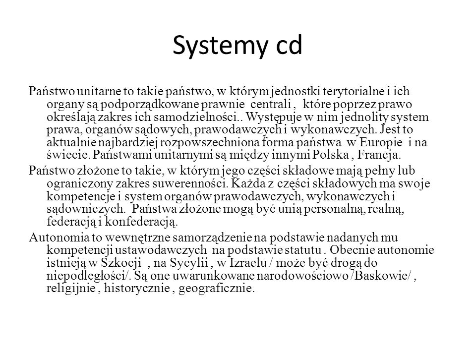 Systemy cd