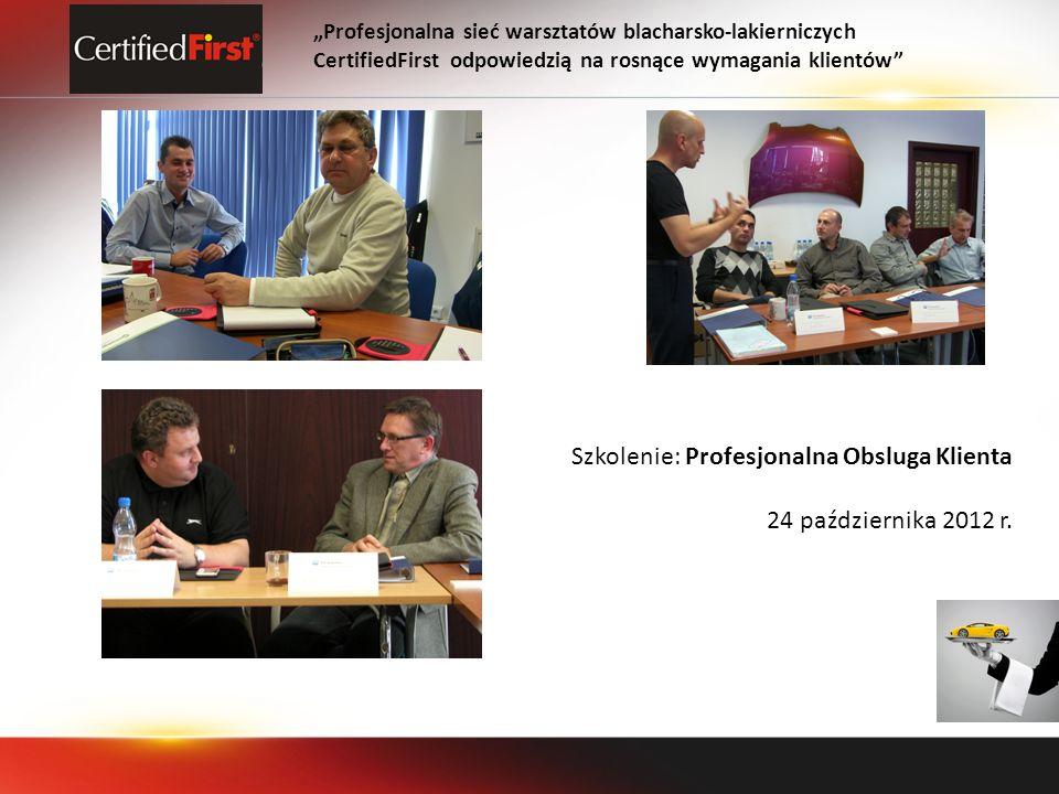 Szkolenie: Profesjonalna Obsluga Klienta 24 października 2012 r.