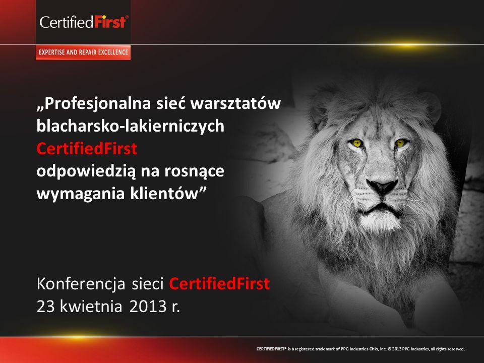 """""""Profesjonalna sieć warsztatów blacharsko-lakierniczych CertifiedFirst"""