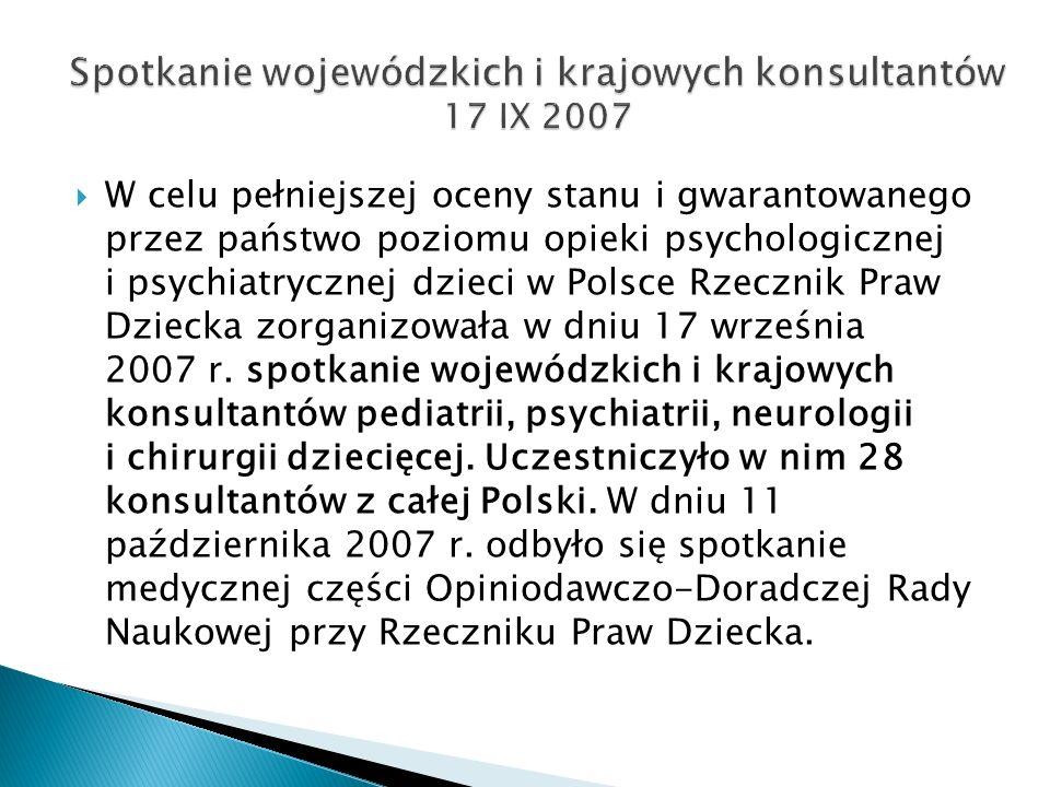 Spotkanie wojewódzkich i krajowych konsultantów 17 IX 2007