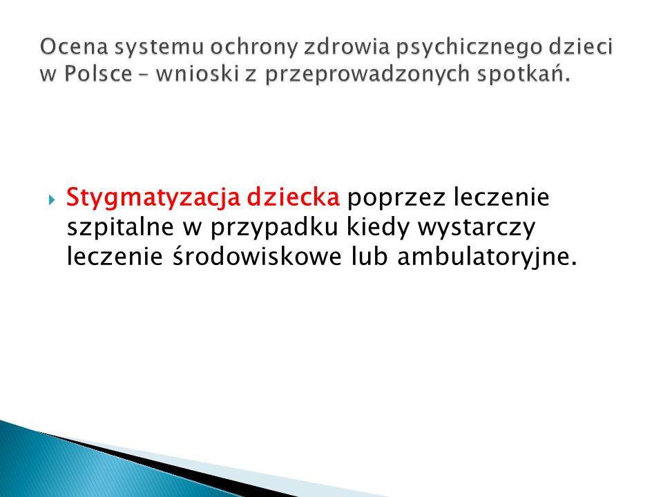 Ocena systemu ochrony zdrowia psychicznego dzieci w Polsce – wnioski z przeprowadzonych spotkań.