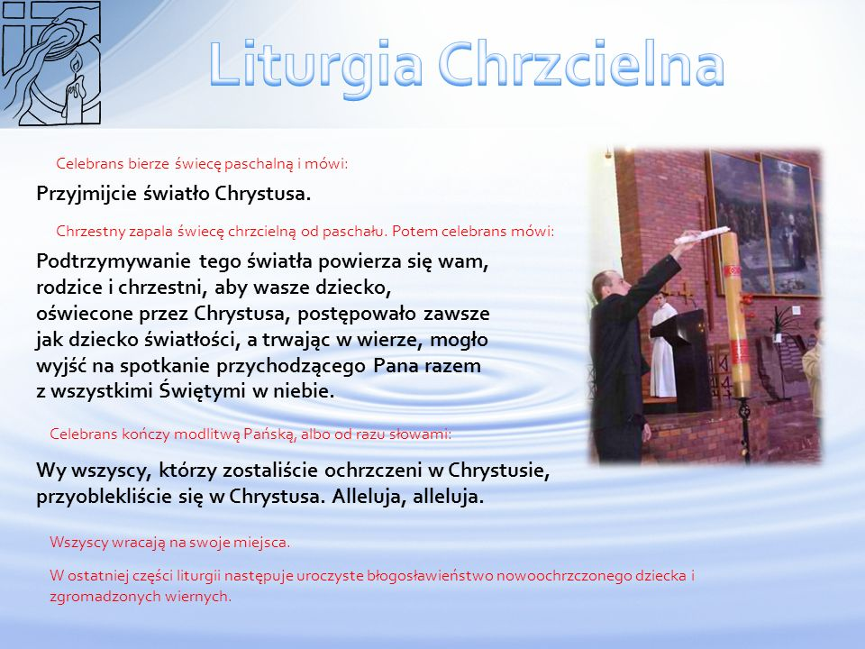 Liturgia Chrzcielna Przyjmijcie światło Chrystusa.