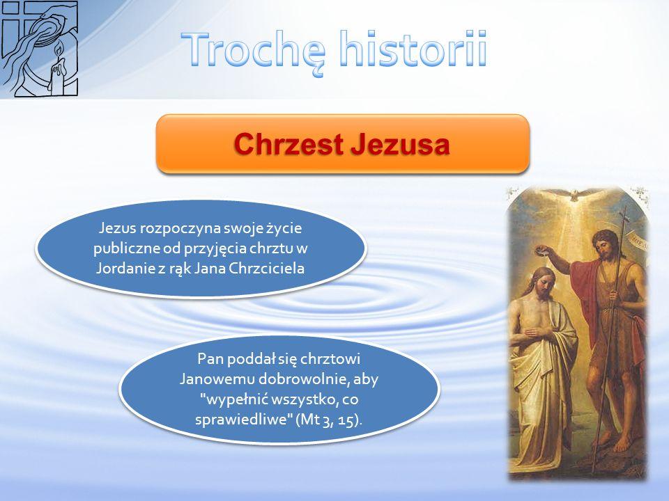 Trochę historii Chrzest Jezusa